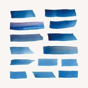 Geschilderde waterverf achtergrondvector in blauw