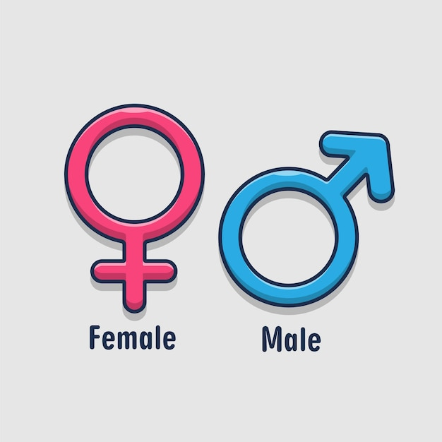 Geslacht symbool. betekenis van seks en gelijkheid van mannen en vrouwen