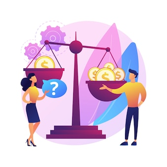 Geslachtsdiscriminatie abstract concept illustratie. seksisme, genderrollen en stereotypen, ongelijkheid op de werkplek, vaardigheden en capaciteiten, vrouwenrechten, arbeidsmarkt.