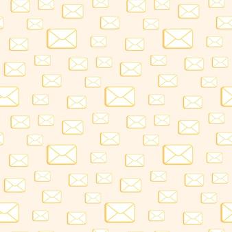 Gesloten cartoon enveloppen naadloze patroon