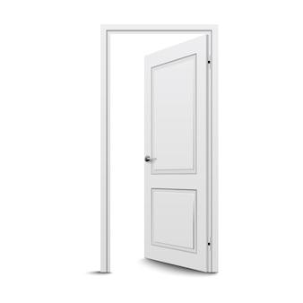 Gesloten deur geïsoleerd