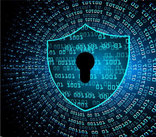 Gesloten hangslot digitale achtergrond, cyberbeveiliging