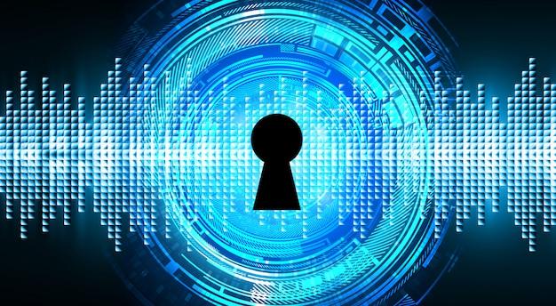 Gesloten hangslot op digitale achtergrond, cyberbeveiliging