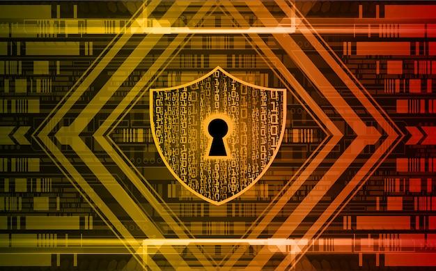 Gesloten hangslot op digitale, cyberbeveiliging