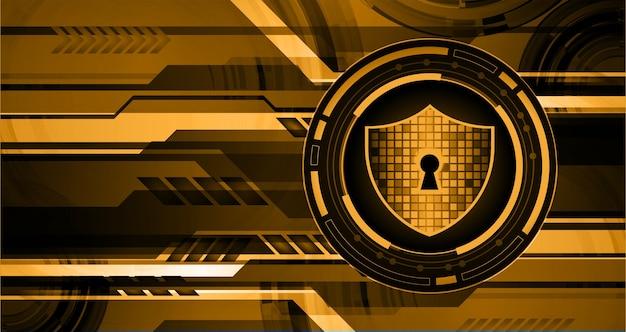 Gesloten hangslot op digitale cyberbeveiliging