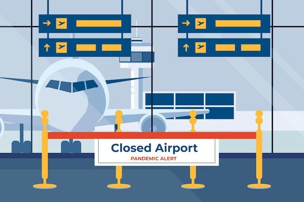 Gesloten luchthaven en verleggen van de vakantie