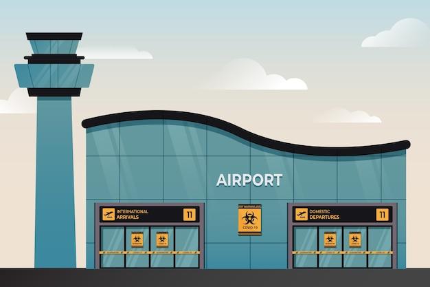 Gesloten luchthaven wegens pandemie