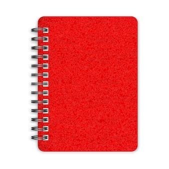 Gesloten rood spiraalvormig notitieboekje