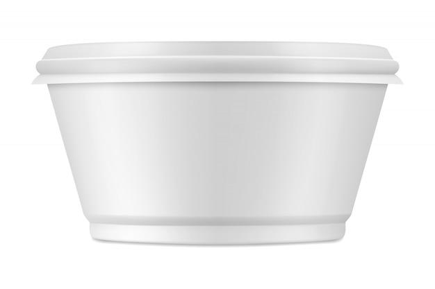 Gesloten verpakking voor yoghurt of ander voedsel