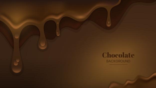 Gesmolten chocolade achtergrond