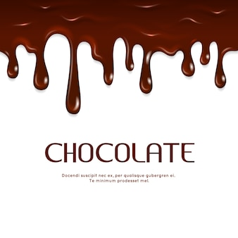 Gesmolten druipende chocolade