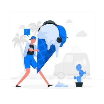 Gesmolten ijs concept illustratie
