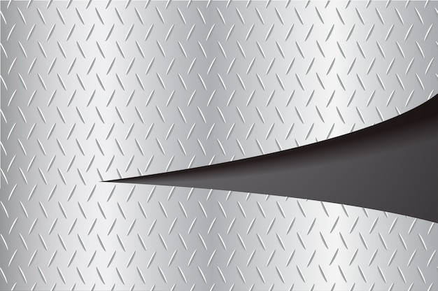 Gesneden plaat metaal scheuren en ruimte zwarte achtergrond