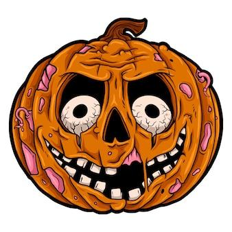 Gesneden pompoen gelukkig halloween