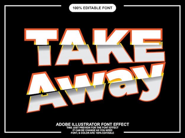 Gesneden tekststijl lettertype effect