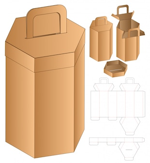 Gestanste sjabloon in zeshoekige vormverpakking