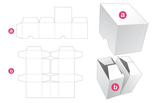 Gestanste sjabloon met dubbele doos en deksel