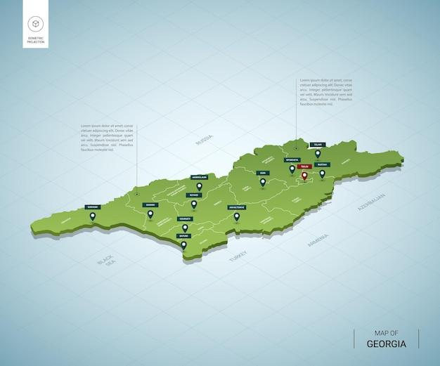 Gestileerde kaart van georgië.
