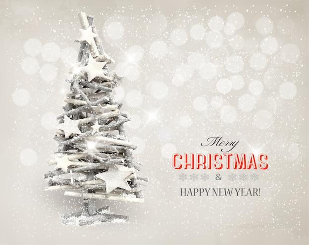 Gestileerde kerstboom achtergrond.