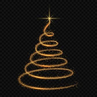 Gestileerde kerstboom geïsoleerde vector