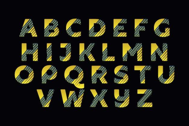 Gestileerde kleurrijke lettertype en alfabet voor logo-ontwerpen