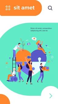Gestileerde vrijwilligers helpen liefdadigheid en delen hoop geïsoleerde platte vectorillustratie. cartoon abstract sociaal team of groep met humanitaire steun