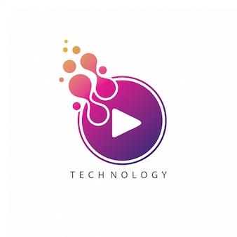 Gestippeld play-logo
