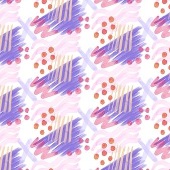 Gestippelde abstract aquarel naadloze patroon