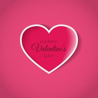 Gestippelde achtergrond met roze hart