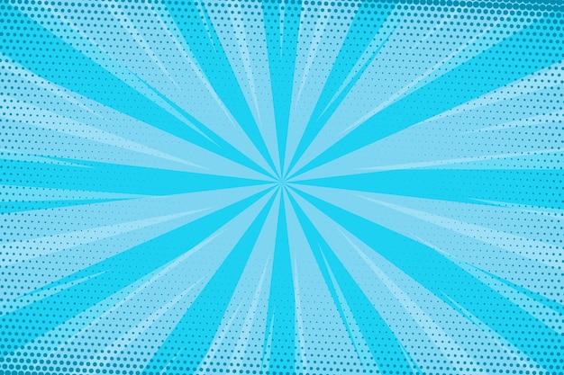 Gestippelde blauwe snelheid komische stijl achtergrond