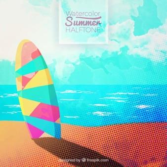 Gestippelde surf achtergrond