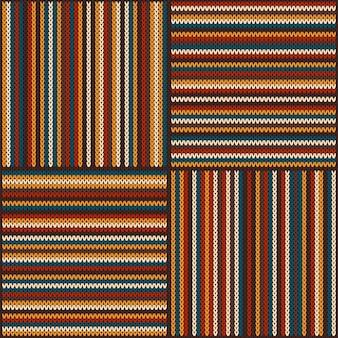 Gestreept kleurrijk gebreid patroon