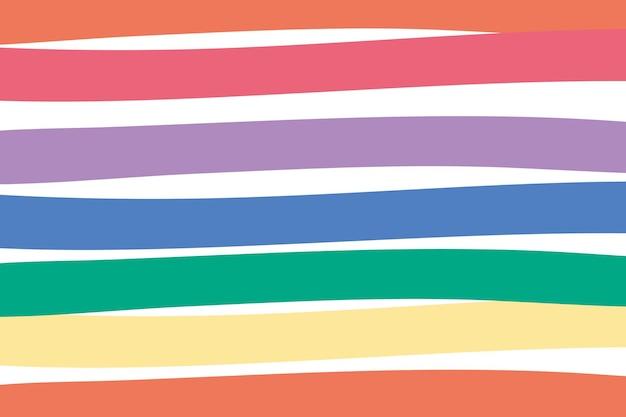 Gestreept kleurrijk schattig eenvoudig behang