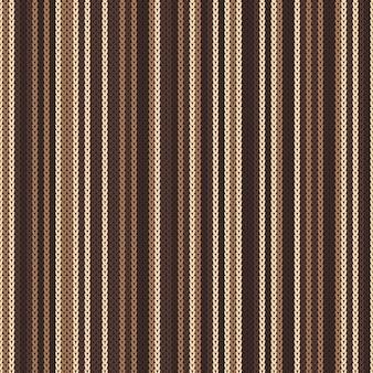 Gestreept naadloos patroon breien