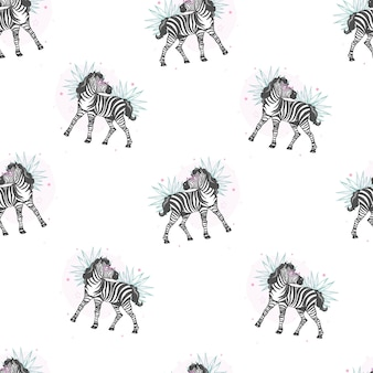 Gestreept patroon, kinderensafari-print
