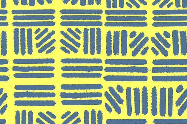 Gestreept patroon, textiel vintage achtergrond vector in geel