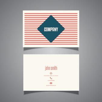 Gestreept visitekaartje ontwerp