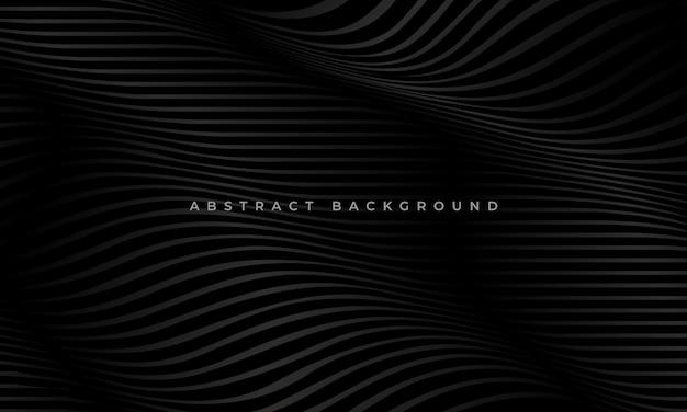 Gestreepte zwarte golflijnen moderne luxe patroon bedrijfsconcept achtergrond
