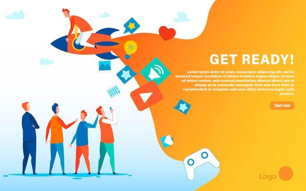 Get ready motiveer wom marketing-bestemmingspagina