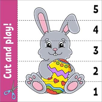 Getallen leren. knippen en spelen. onderwijs werkblad. spel voor kinderen. kleur activiteitenpagina.