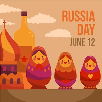 Getekend rusland dagontwerp