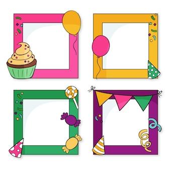 Getekend verjaardagscollage frame pack