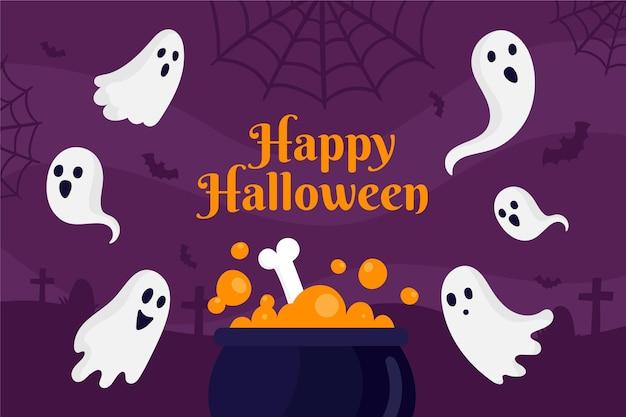 Getekende achtergrond voor halloween-evenement