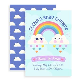 Getekende chuva de amor babydouche kaart