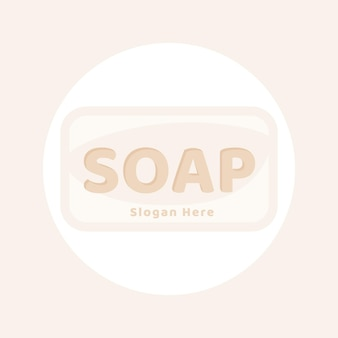 Getekende roze zeep logo sjabloon