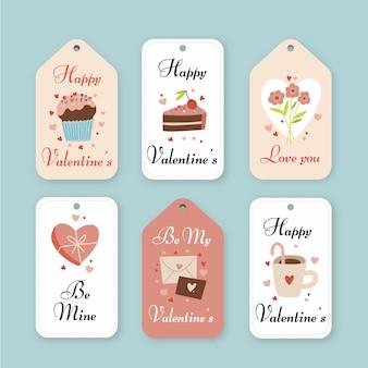 Getekende valentijnsdag badges