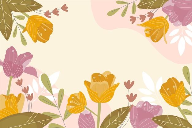 Getekende voorjaar achtergrond met lege ruimte