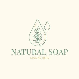 Getekende zeep logo sjabloon