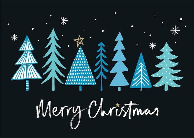 Getextureerde kerstboom met verlichting eps 10-bestand met transparanten en slagschaduw