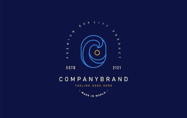 Getijde maan logo ontwerpsjabloon